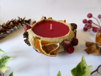 cranberry orange and cinnamon explosion sand candle