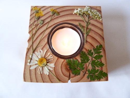 reclaimed wood meadow flower