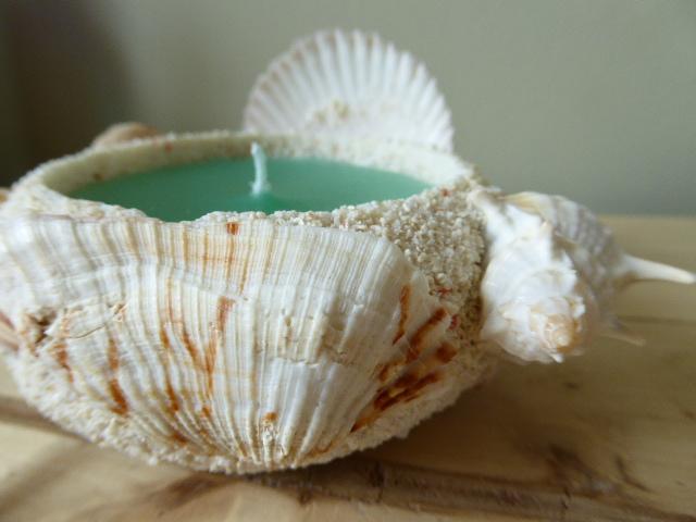 sea shell island breeze sand candle