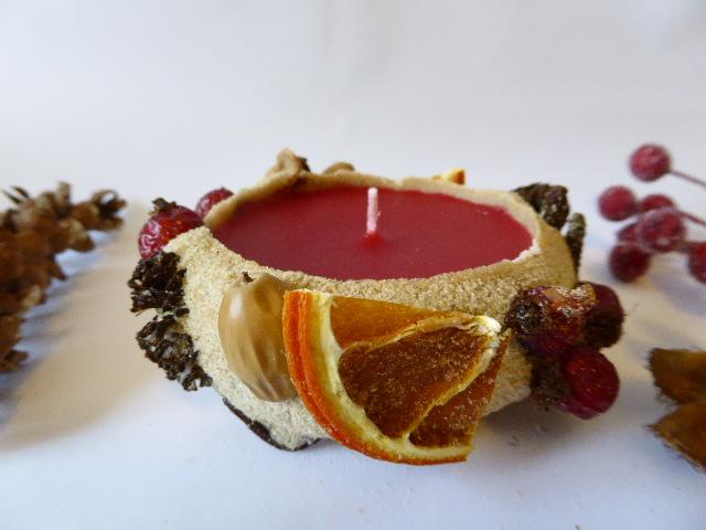 Christmas sand candle