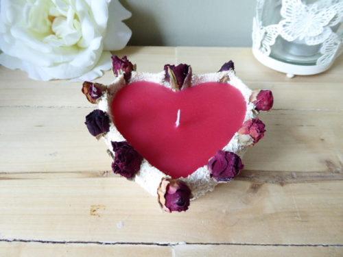 Bergamot Scented Rose Bud Sand Candle