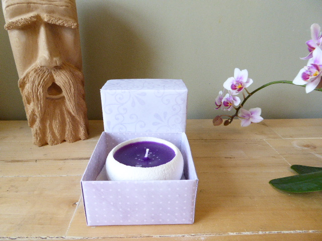 lavender scented handmade sand candle & gift box