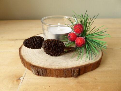 Handmade Woodland Christmas Tea Light Decoration