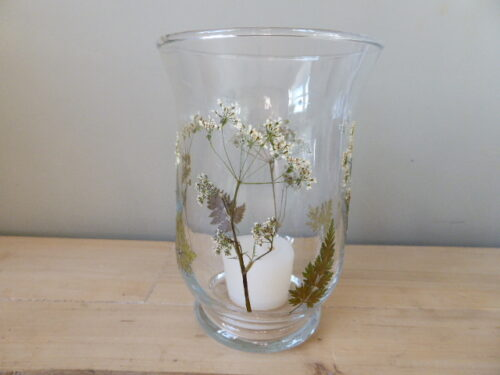 cow parsley hurricane candle holder