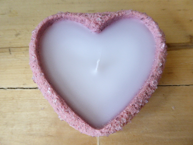 lavender scented sand candle