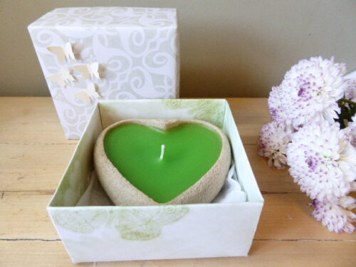 peppermint scented sand candle