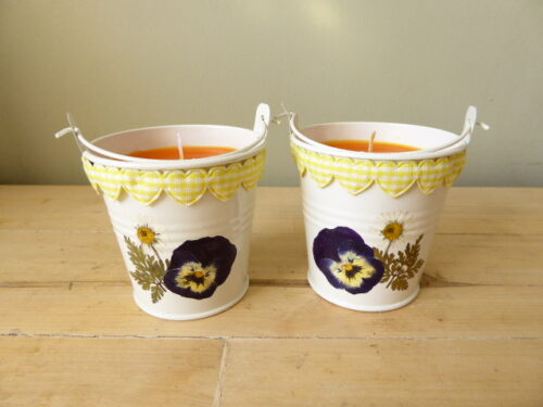grapefruit scented bucket candles
