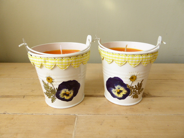 grapefruit scented bucket candles