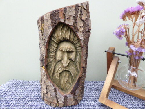 carved willow wood spirit
